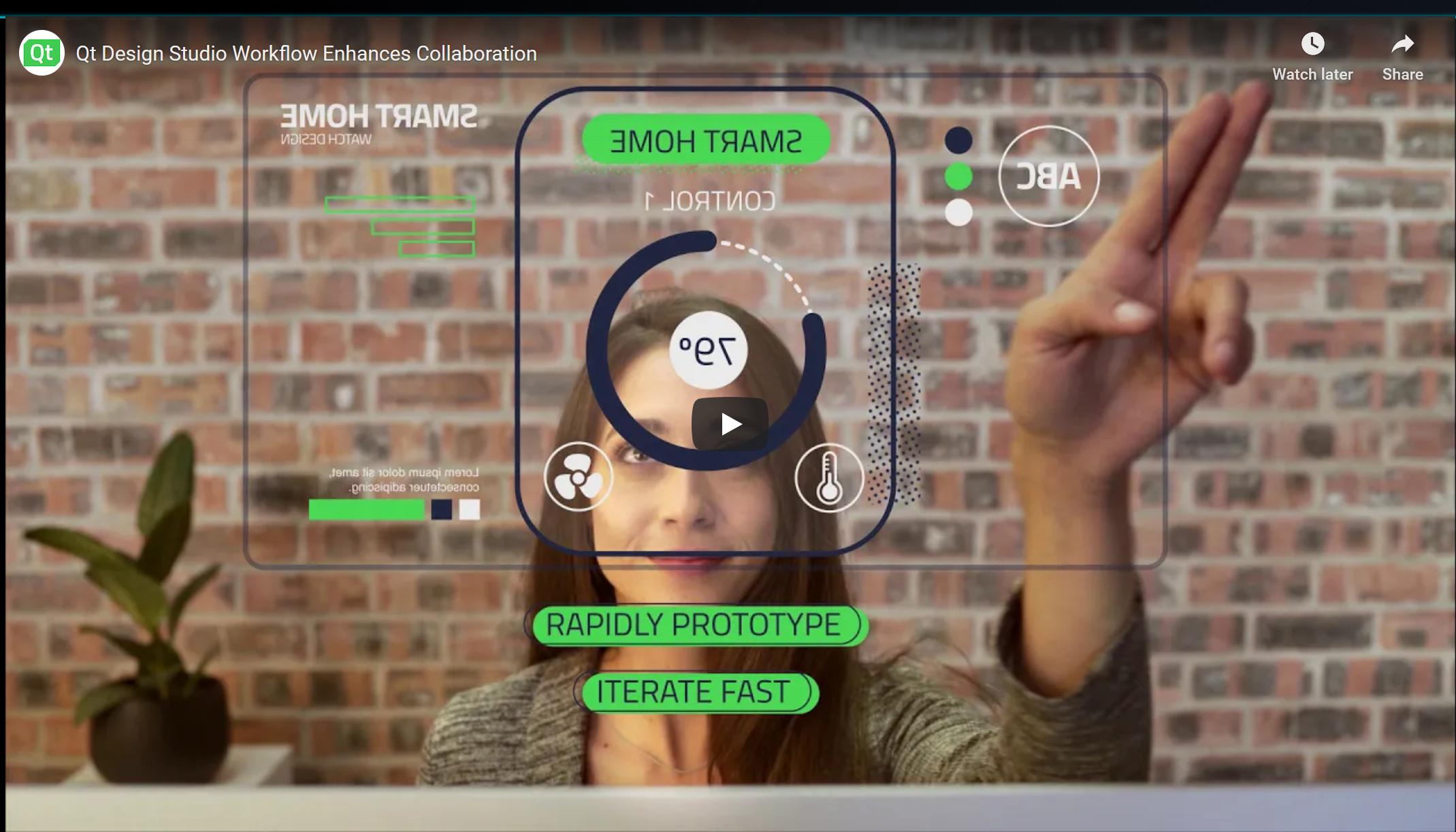 Qt Design Studio Intro Video Screenshot