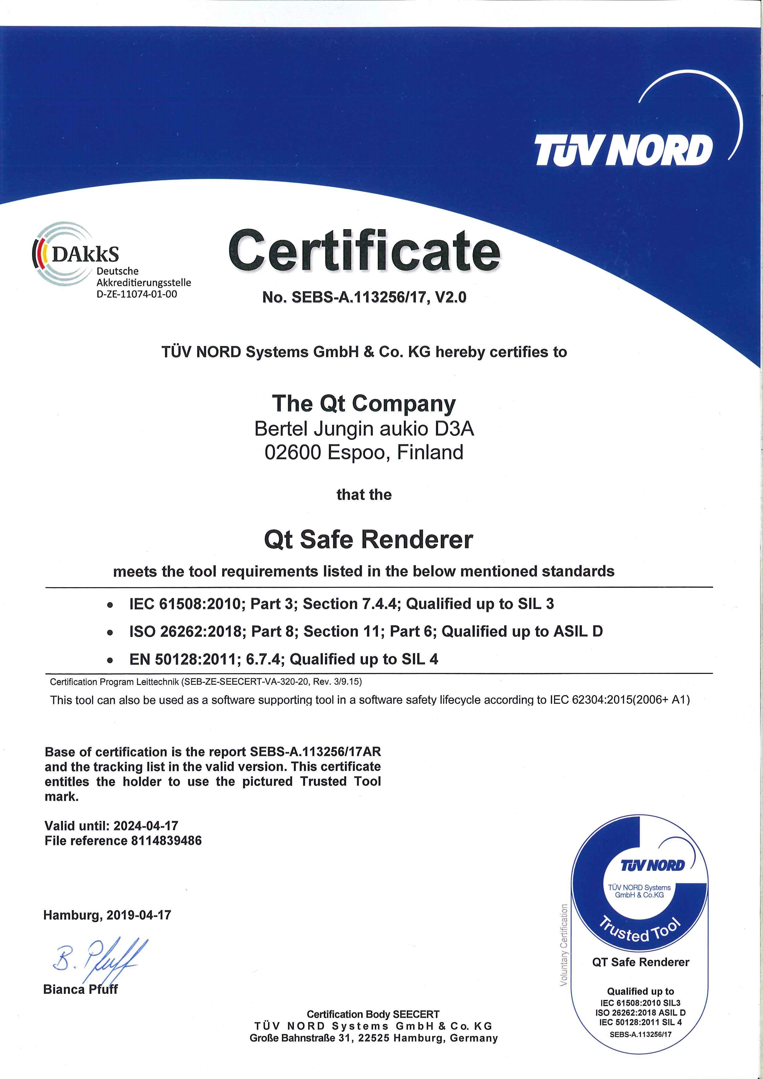Qt_Safe_Renderer_certificate_May_2019