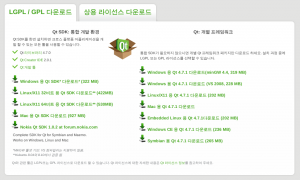 Qt Downloading Page