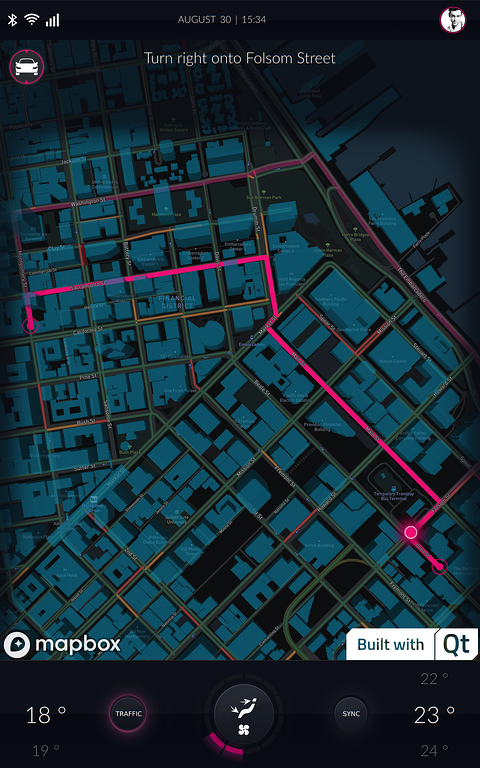 The MapboxGL plugin in action