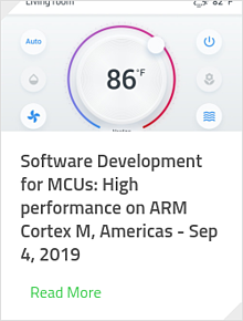 Software Development for MCUs: High performance on ARM Cortex M, Americas - Sep 4, 2019