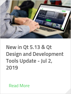 New in Qt 5.13 & Qt Design and Development Tools Update - Jul 2, 2019