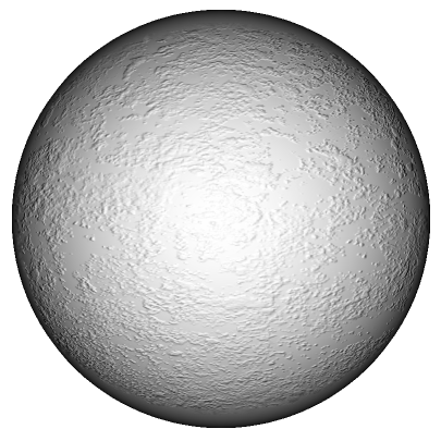 A sphere with a bump map