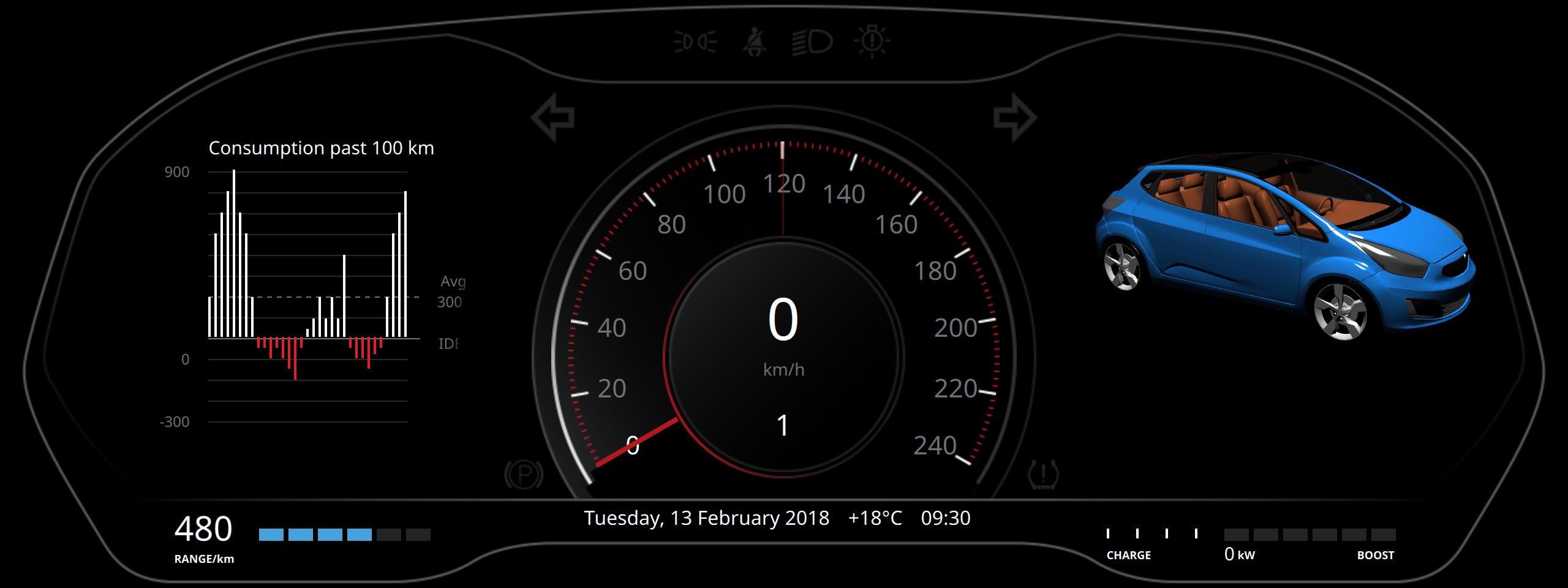 Qt3D and QtQuick instrument cluster