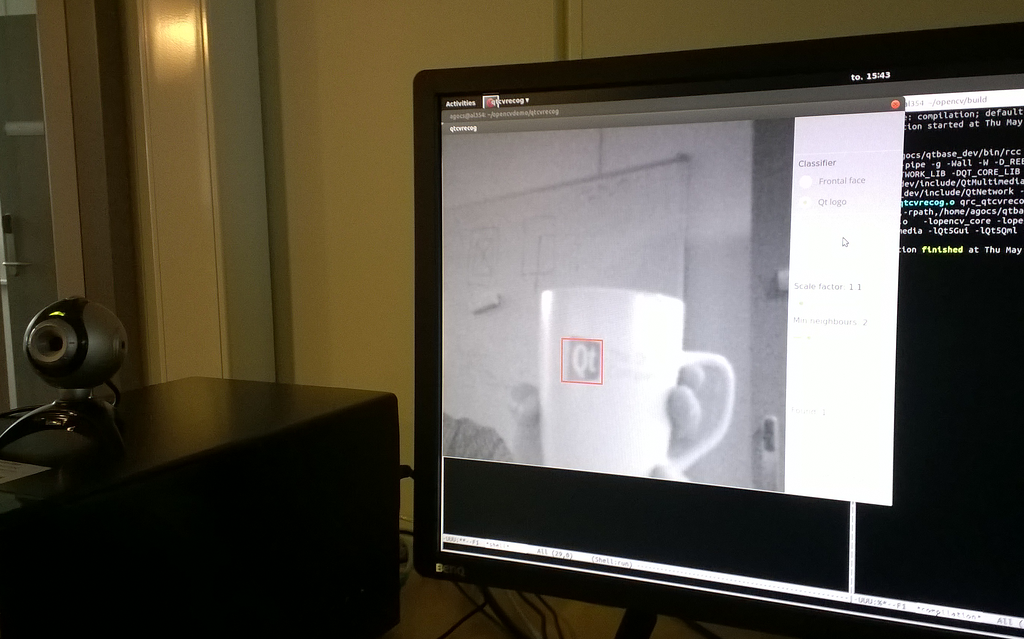 Qt OpenCV demo on the desktop