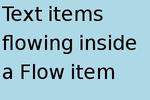 Flow 要素によるレイアウトの例