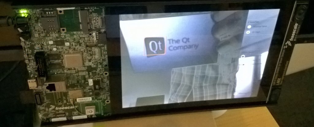 Qt logo recognition with OpenCV on the Sabre SD