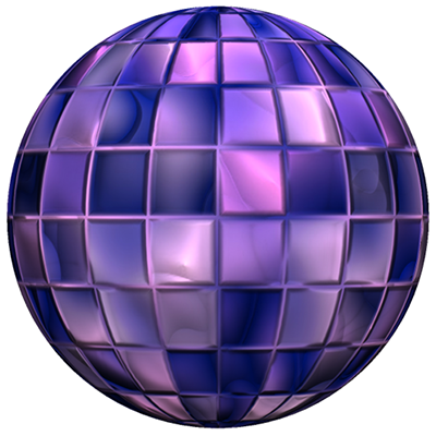 A sphere with a tile diffuse map