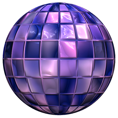 A sphere with a diffuse map and a specular map.