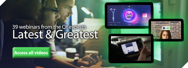 39 webinars from the Qt experts - access the latest and greatest from Qt Virtual Tech Con 2020