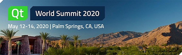 Qt World Summit 2020 | May 12-14, Palm Springs, CA, USA