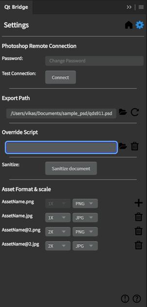Override script settings