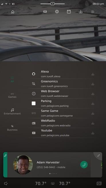 Qt Automotive Suite 5.15 Downloads sample application