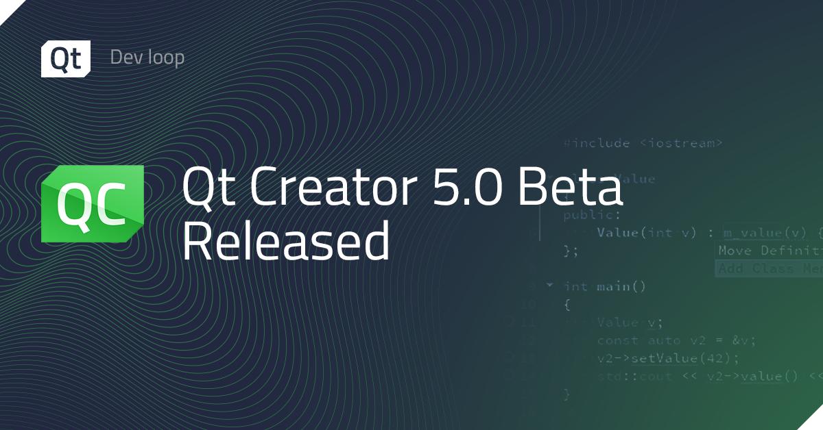 Qt Creator 5.0 Beta Released