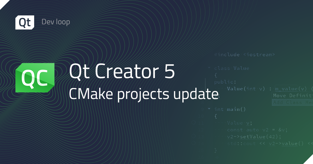 Qt Creator 5 CMake projects update