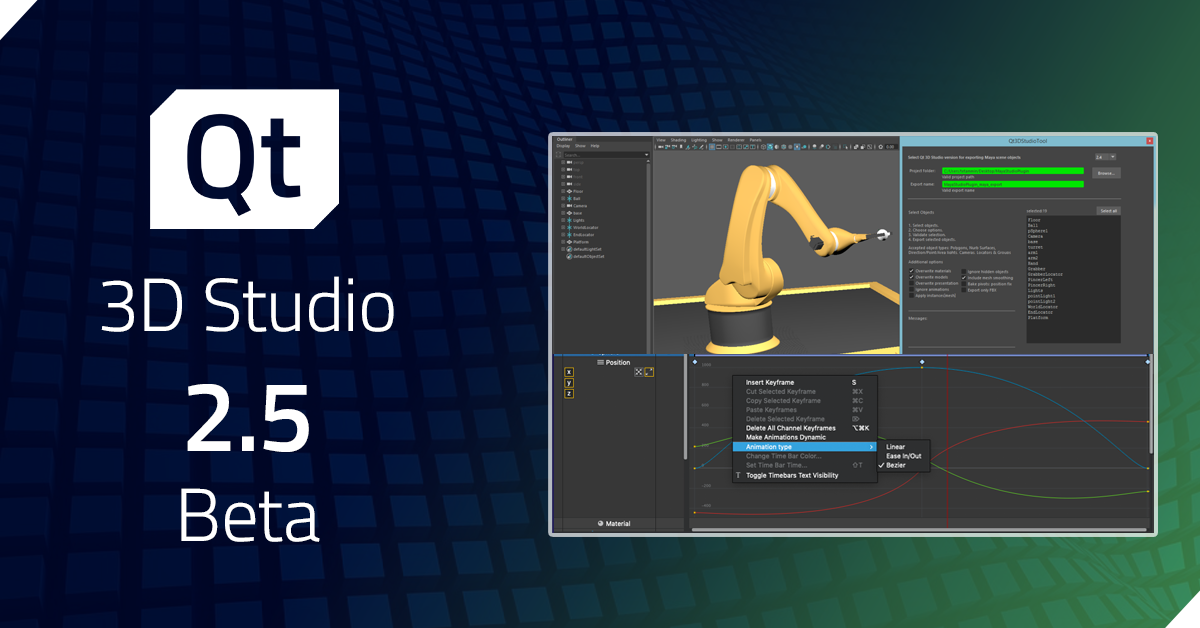 Qt 3D Studio 2.5 Beta released