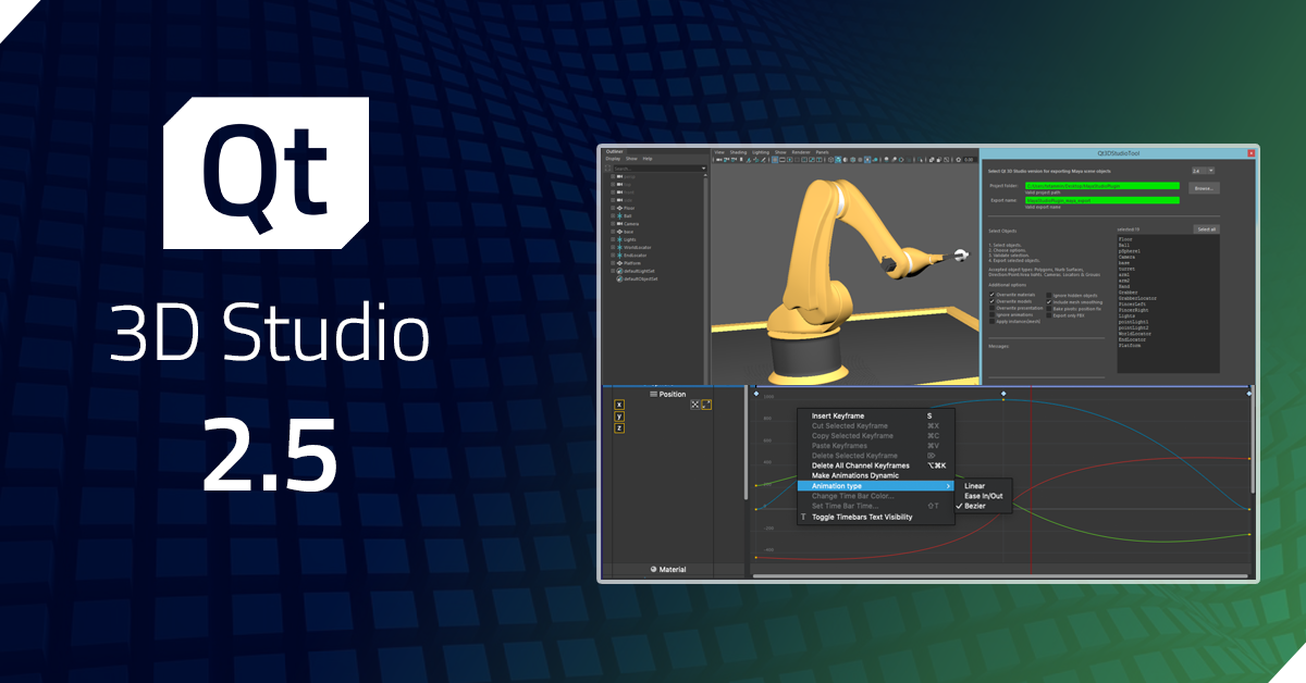 Qt 3D Studio 2.5 released
