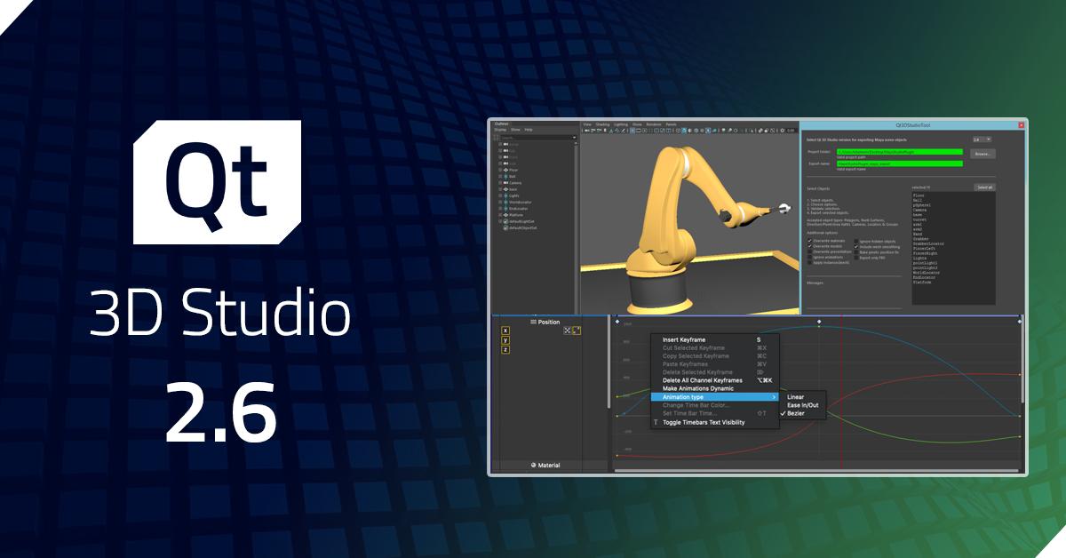 Qt 3D Studio 2.6 Released