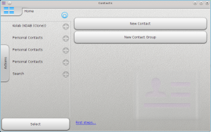使用了QML1的KDE PIM的Contacts Touch