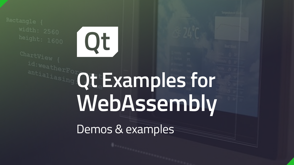 Qt Examples for WebAssembly