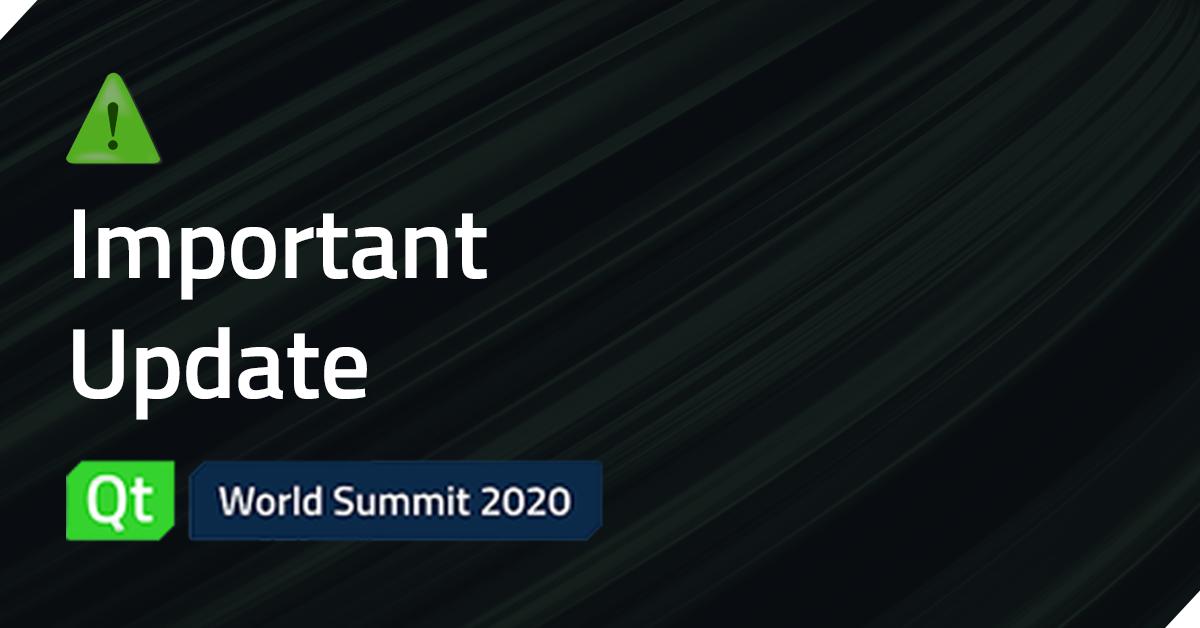 Qt World Summit '20 postponed to October