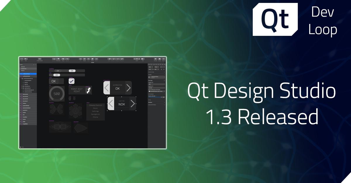 Qt Design Studio 1.3 released