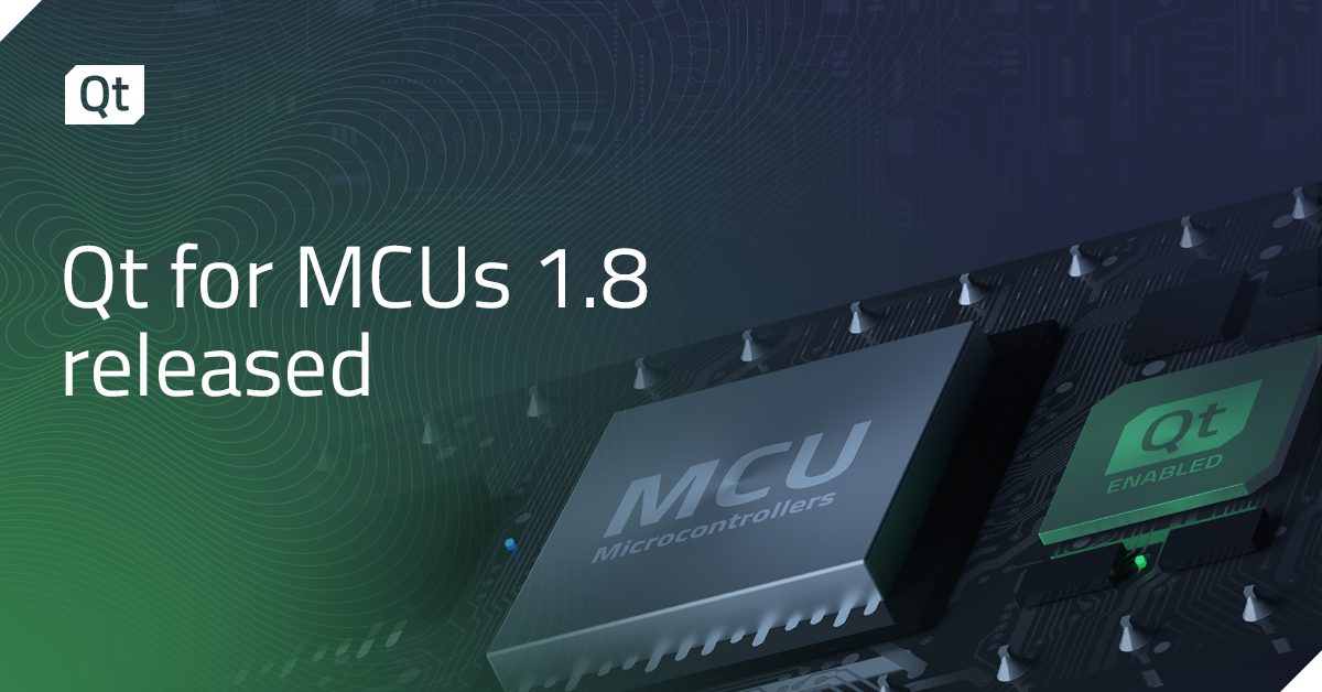 Qt for MCUs 1.8 released