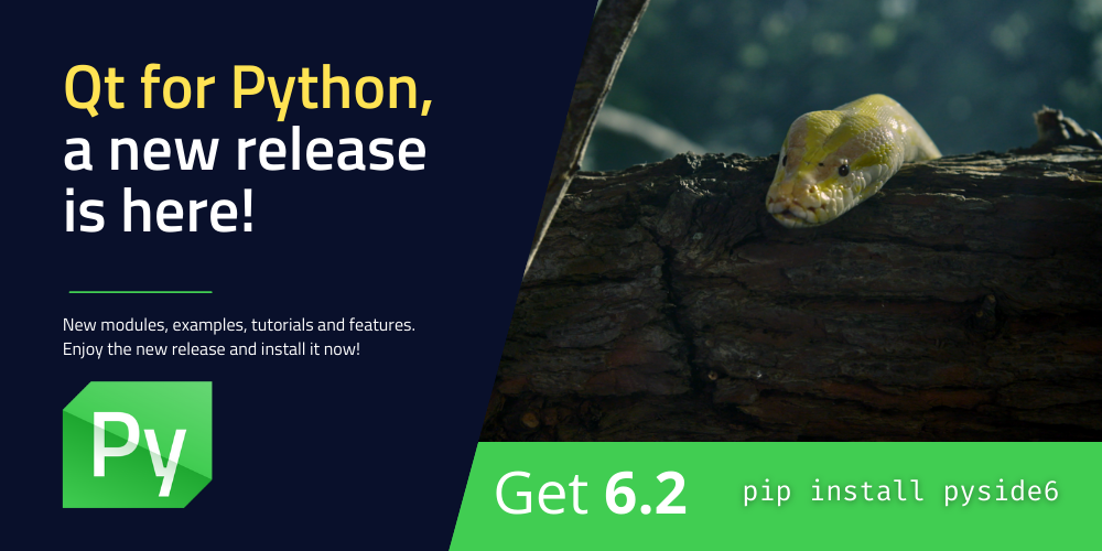 Qt for Python release: 6.2 is here! 🐍