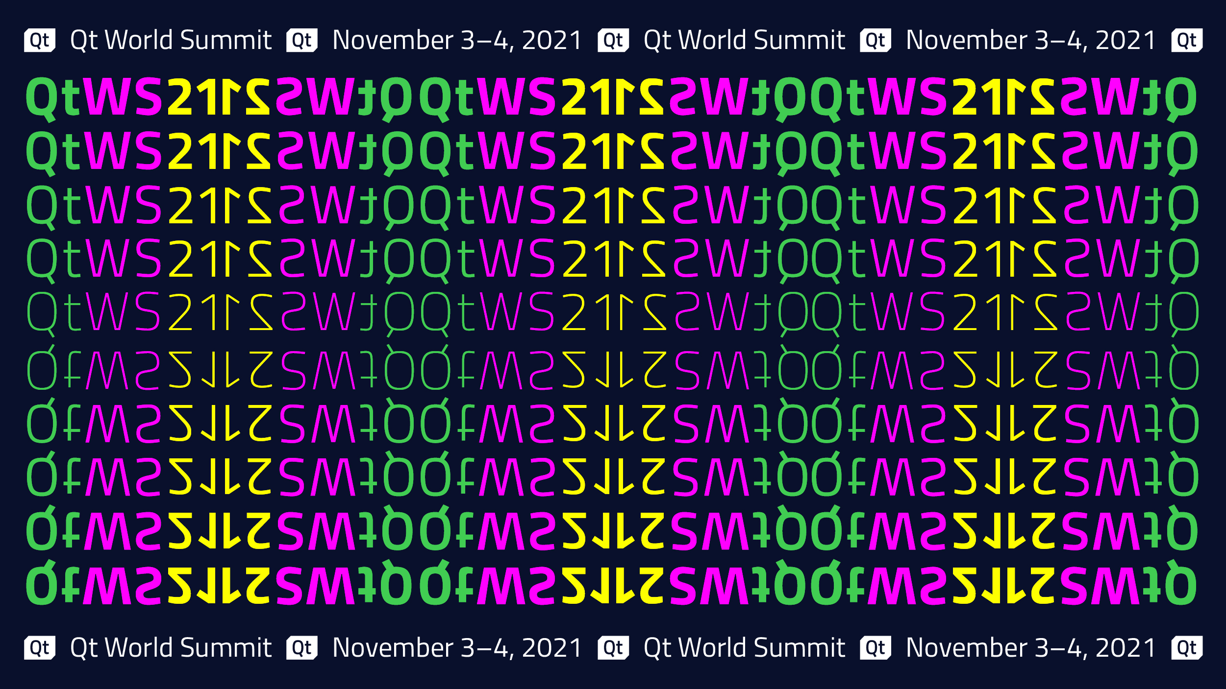 Call for Presentations for Qt World Summit 2021