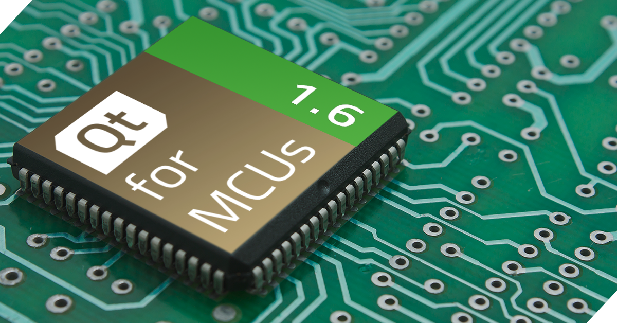 Qt for MCUs 1.6 released