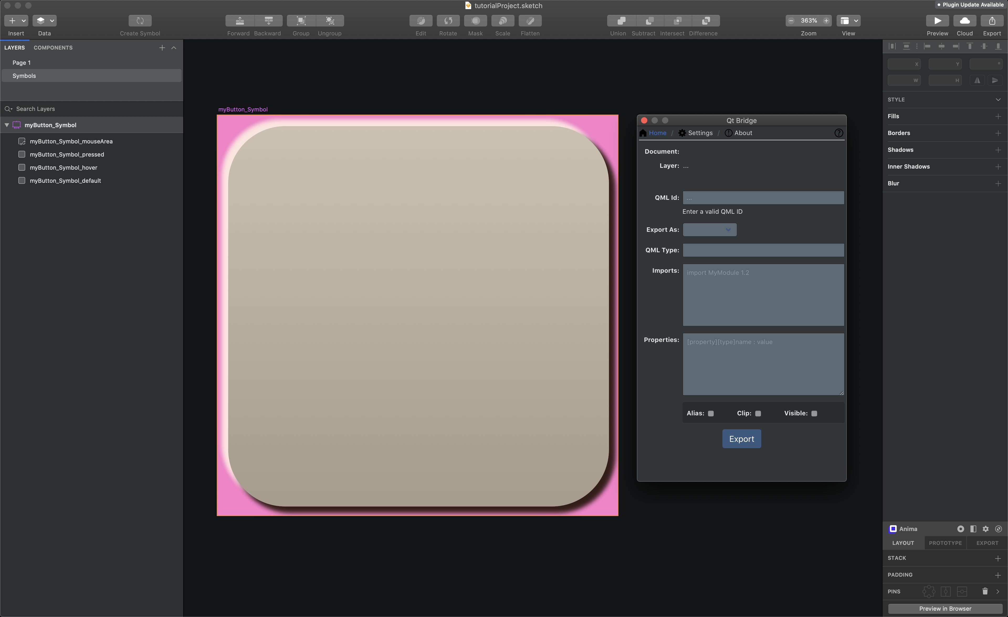 Qt Design Studio - Sketch Bridge Tutorial Part 1