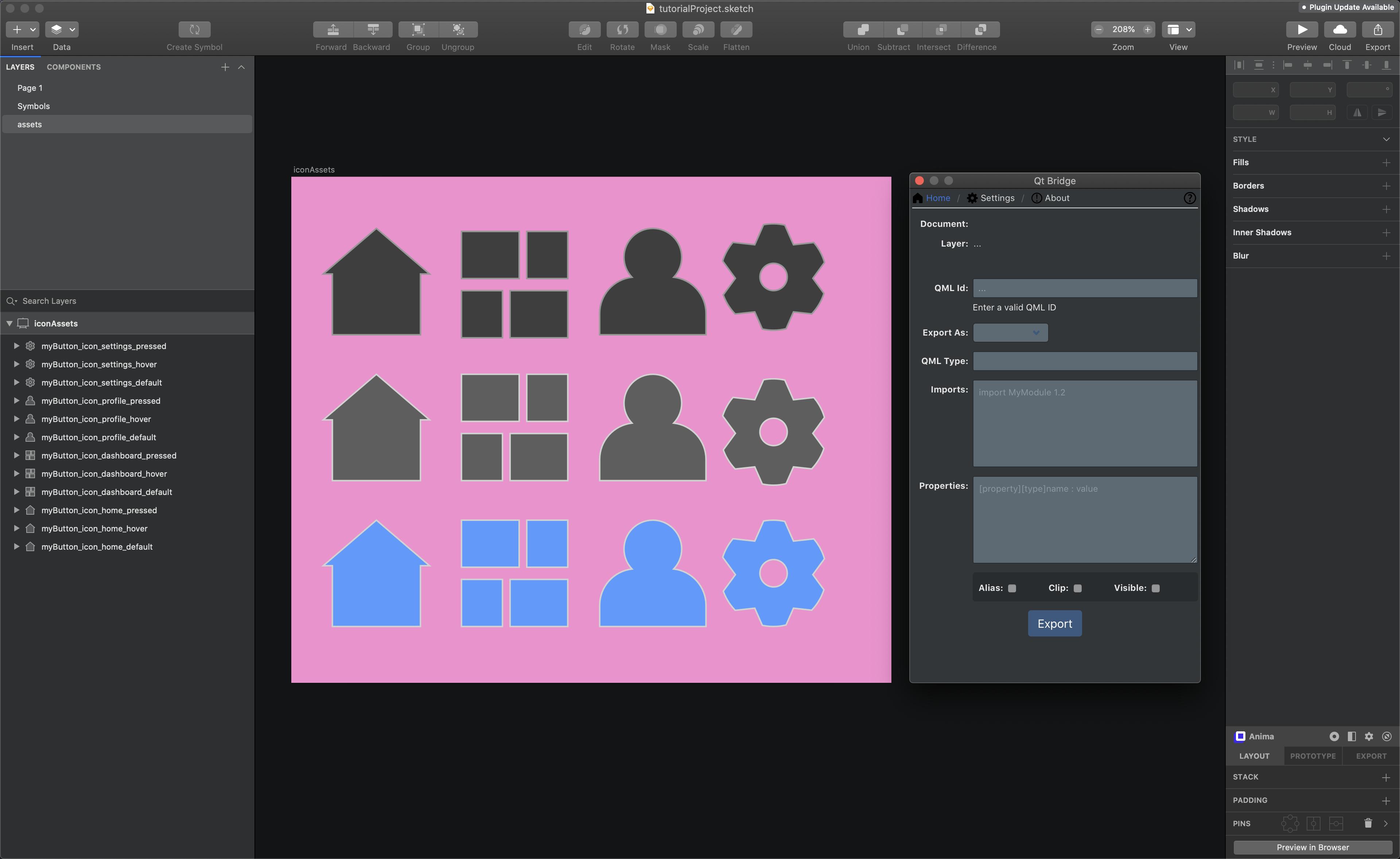 Qt Design Studio - Sketch Bridge Tutorial Part 2